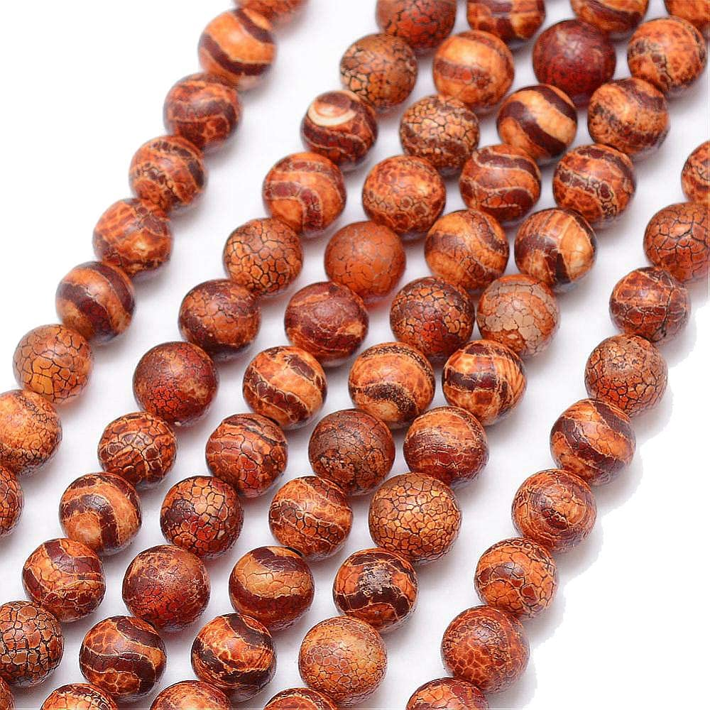 Perlin–18stk Tibet Dzi Ágata Buda Perlas 8mm Natural effloresce Piedras Preciosas Perlas Joyas de Piedra Redonda Beads Tibetano Piedra Perla para fädeln para DIY Cadena Manualidades G788
