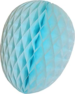 product image for 3-Pack 9 Inch Honeycomb Tissue Paper Easter Egg Decoration (Light Blue)
