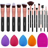 Syntus Makeup Brush Set, 16 Makeup Brushes & 4 Blender Sponge & 1 Brush Cleaner Premium Synthetic Foundation Powder…