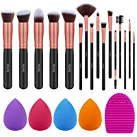 Syntus Makeup Brush Set, 16 Makeup Brushes & 4 Blender Sponge & 1 Brush Cleaner...