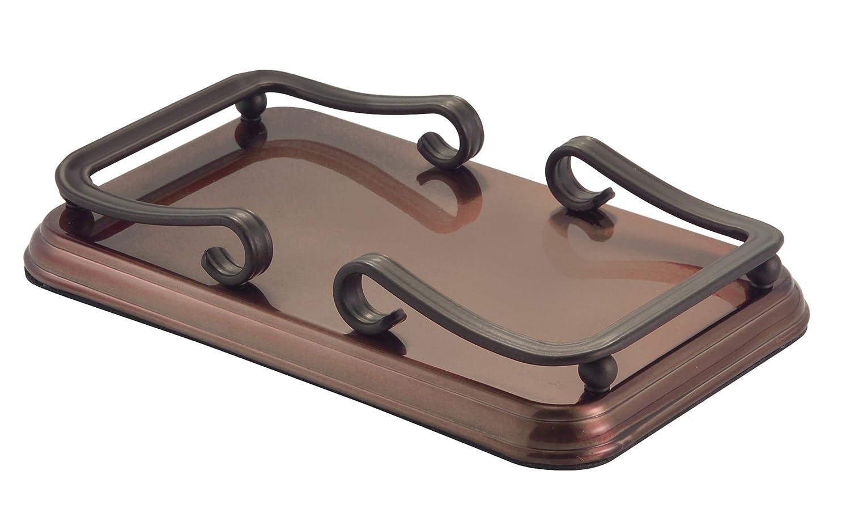 guest towel holder caspari amazoncom interdesign york guest towel holder tray for bathroom bronze home kitchen