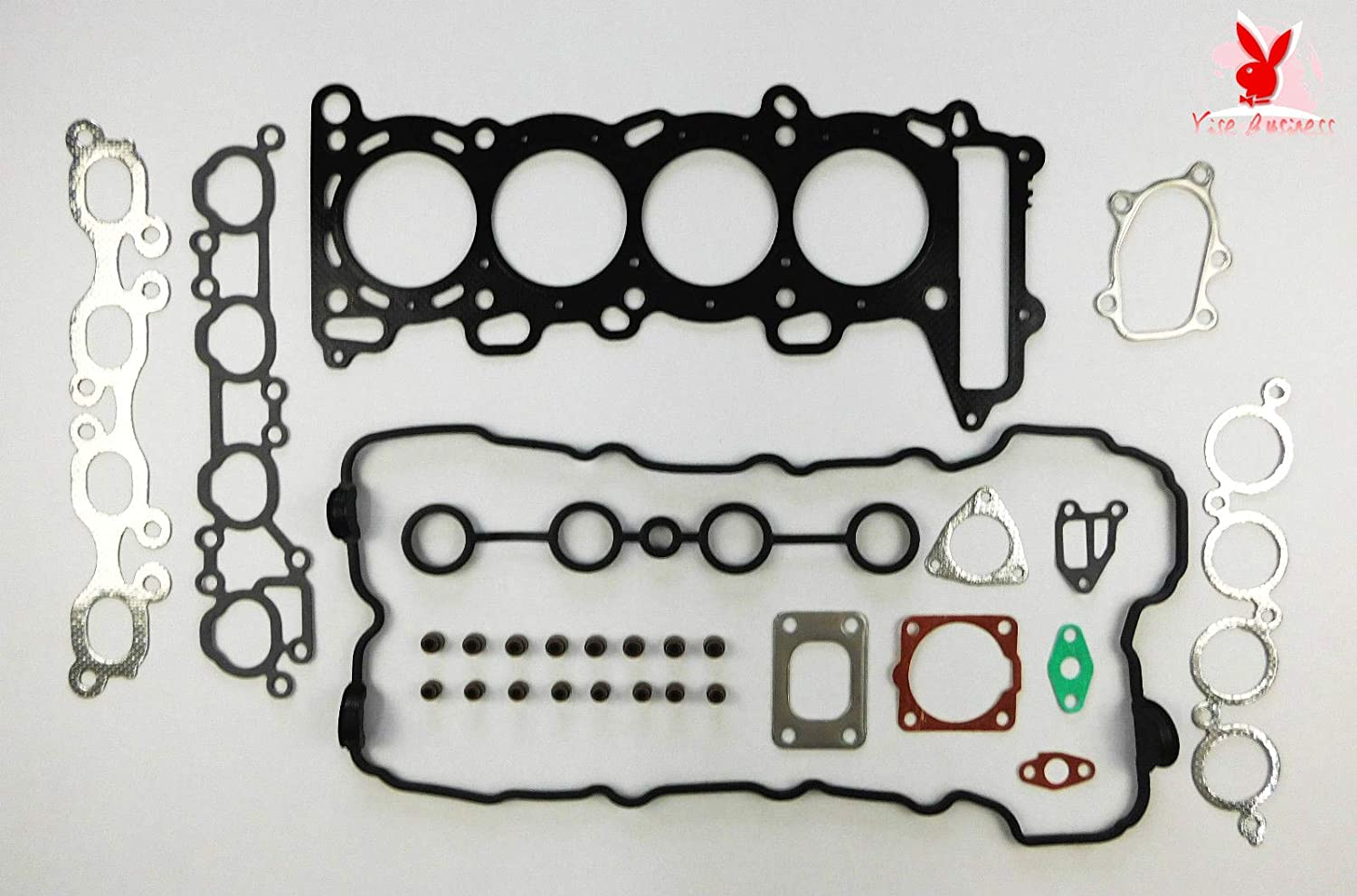 yise-P1418 New HEAD GASKET SET FOR NISSAN 200SX SILVIA PULSAR GTi-R S14 TURBO SR20DET 96 ON VRS DHL 5-9 days can be received