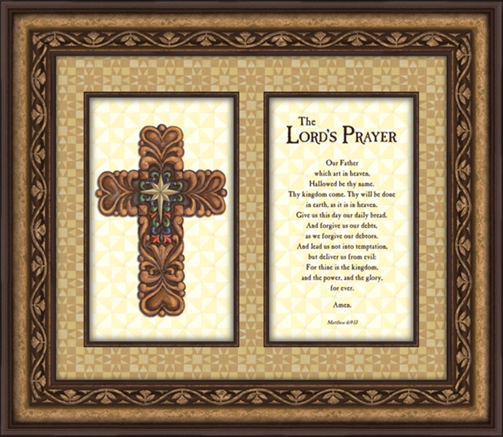 Jim Shore Design The Lord's Prayer Framed Wall Art, 19 Inch by Jim Shore Design
