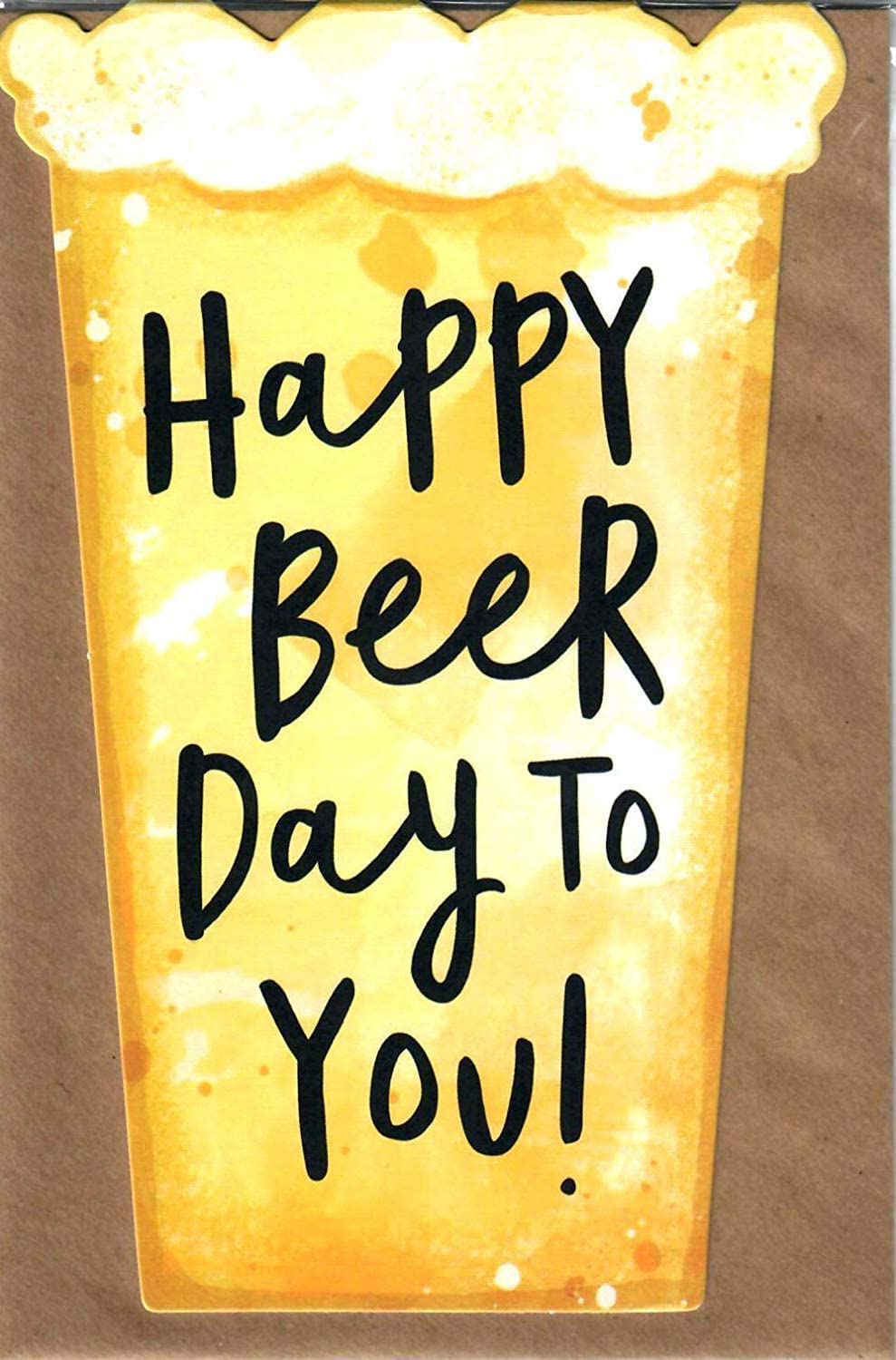 Amazon Com Hanson White Happy Beer Day To You Birthday Humour Office Products