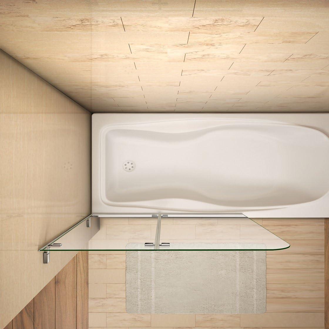 100x140cm Mamparas/pantalla para bañera biombo baño plegable de Aica: Amazon.es: Bricolaje y herramientas