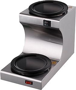 Hakka Commercial Coffee Warmer and Teapot Warmer,2-Station 110V,USA Plug