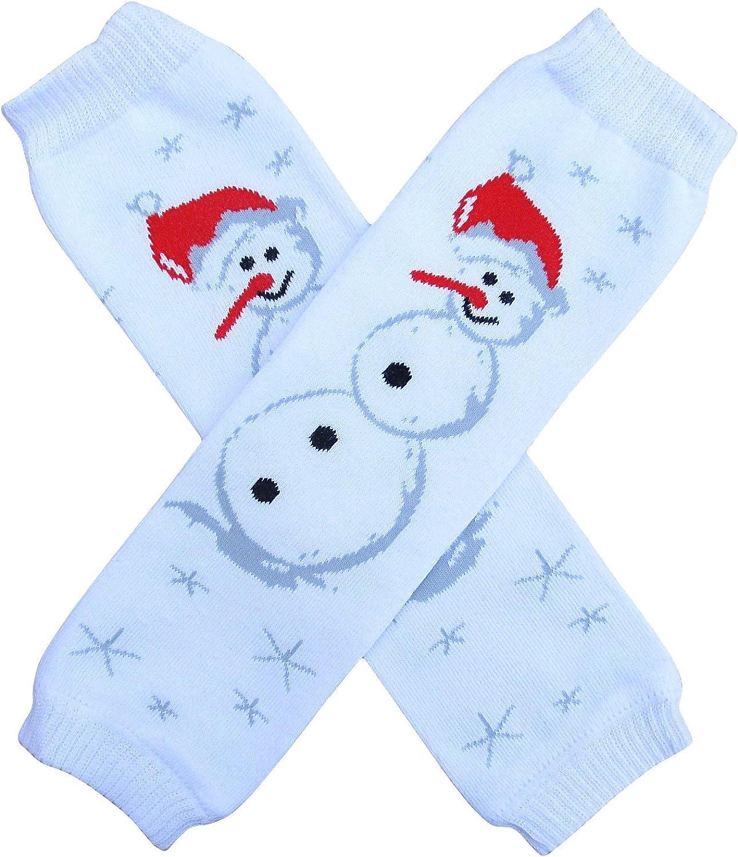 Snowman Leg Warmers for Baby Girl