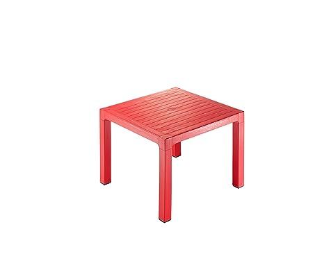 Tavolo Rosso Legno.Novussi Legno 90 Contratto Da Tavolo Rosso 90 X 90 X 75 Cm