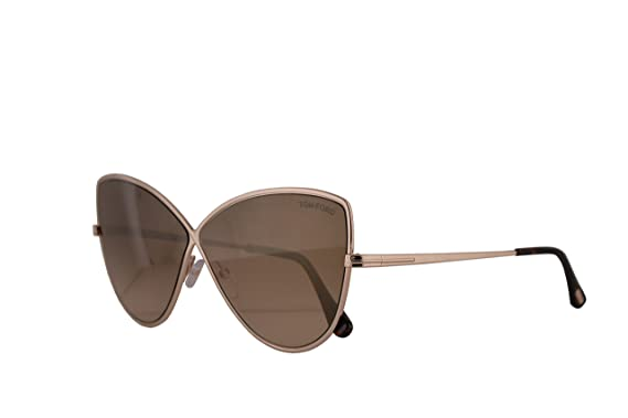 84c7ca4f2a3c Image Unavailable. Image not available for. Color  Tom Ford FT0569 Elise-02  Sunglasses Shiny Rose Gold w Brown ...