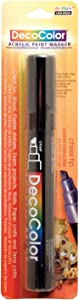 Uchida 315-C-1 Marvy Deco Color Chisel Tip Acrylic Paint Marker, Black