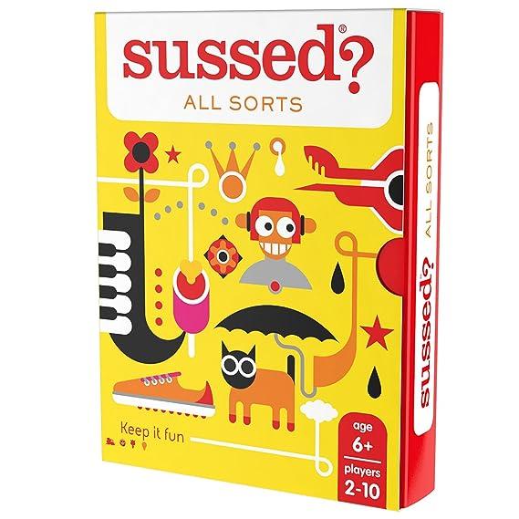 SUSSED All Sorts - Juego familiar de conversación de cartas (edición en inglés): Amazon.es: Juguetes y juegos