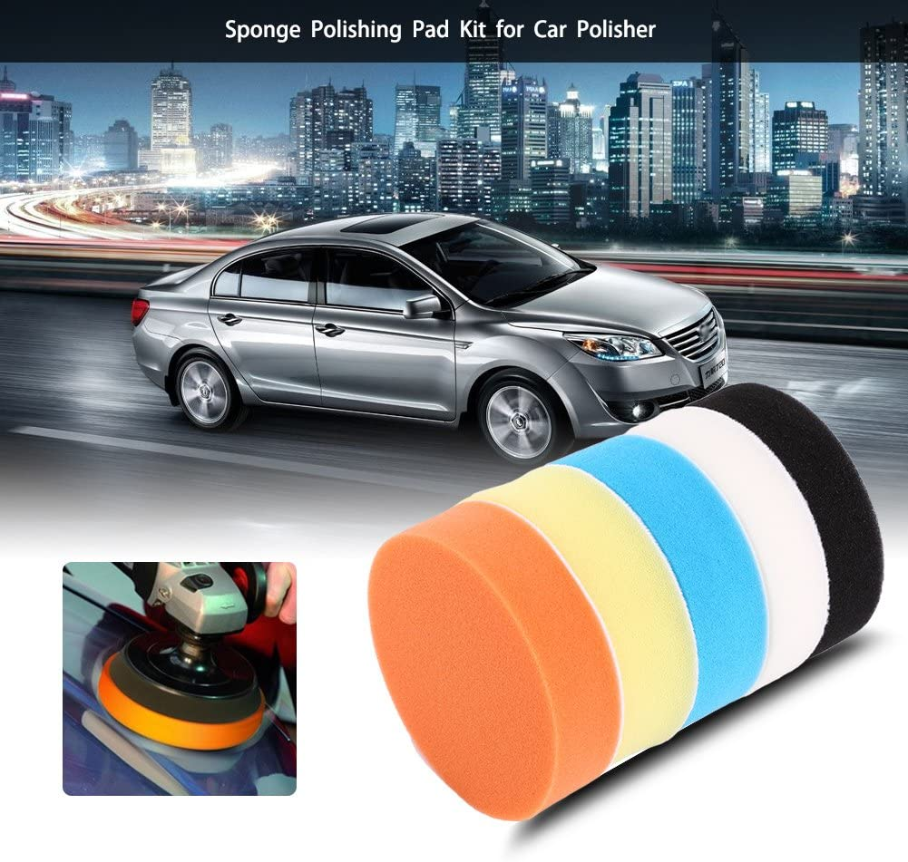 "6/"" 150mm Buffing Pad Sponge Polishing Disc Buffer Polisher Pads for Car Cleaning"