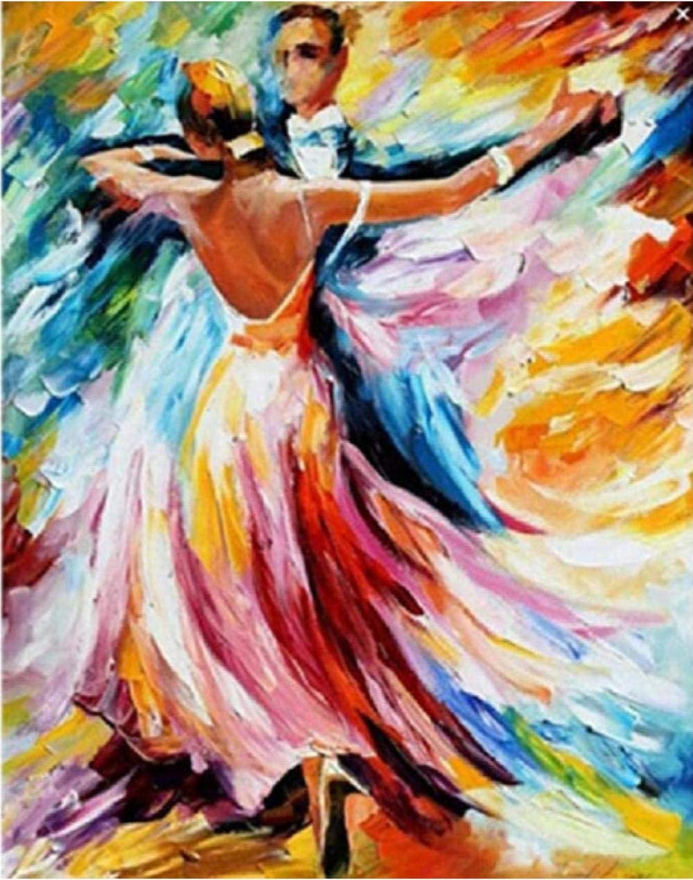 N-L Crafts Graphy Waltz Ballroom Dance Figure DIY Digital Painting by Numbers Modern Wall Art Canvas Painting Unique Gift Home Decor Handmade Painting