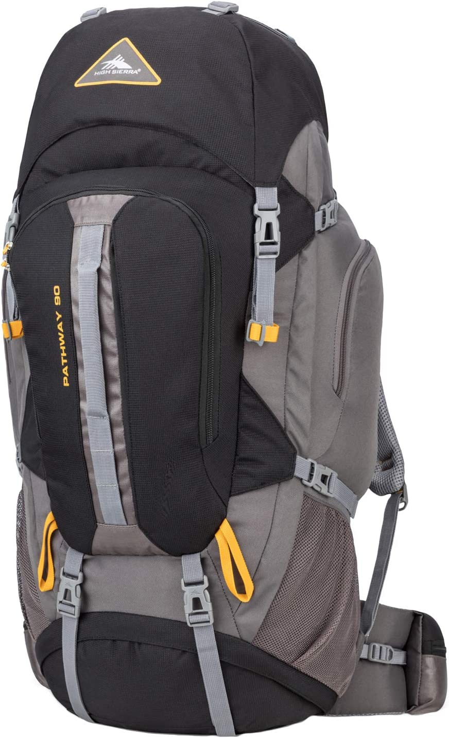 High Sierra Pathway Internal Frame Hiking Backpack 90L – Internal Frame Backpack with Hydration Port – Compatible with 3-Liter Hydration Reservoir – for Hiking, Camping, or Trekking Adventure