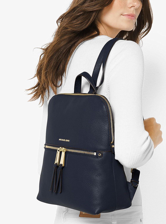 26ca8c97472b5f Amazon.com: MICHAEL Michael Kors Rhea Zip Medium Slim Backpack (Admiral):  Shoes