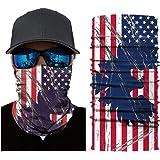 American Flag Face Mask Bandana Breathable Reusable Washable Headband Fishing Neck Gaiter