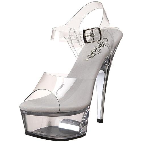 7d5db9f15df Pleaser Women s Captiva-608 Platform Sandal  Amazon.co.uk  Shoes   Bags