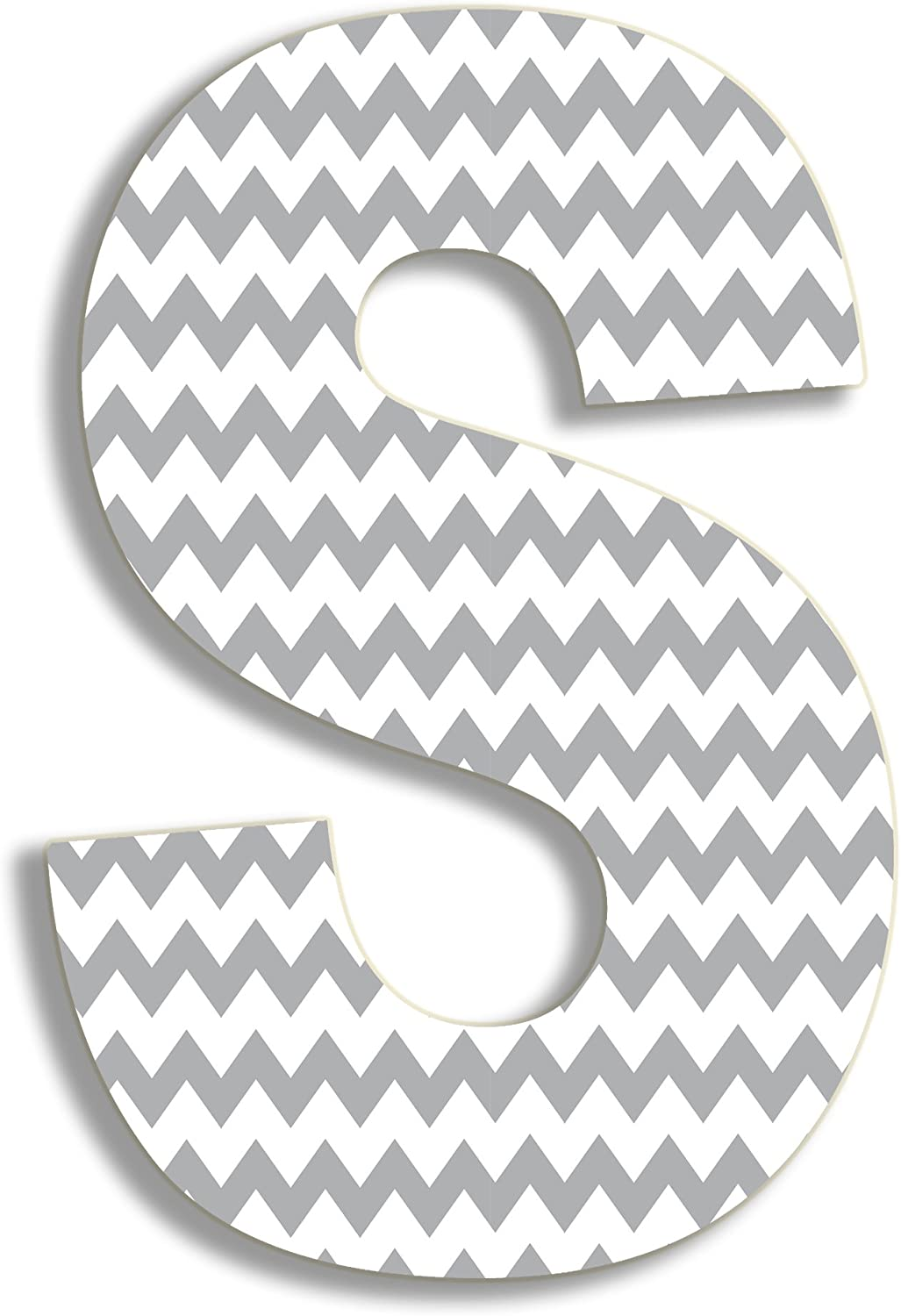The Stupell Home Decor Collection Gray Chevron Hanging Wall Initial B 18-Inch