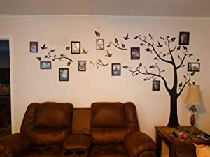 Large Family Tree Wall Decal DIY Black Photo Frame Tree Wall Decor Sticker Mural Decal Art Décor for Living Room HomeDecor