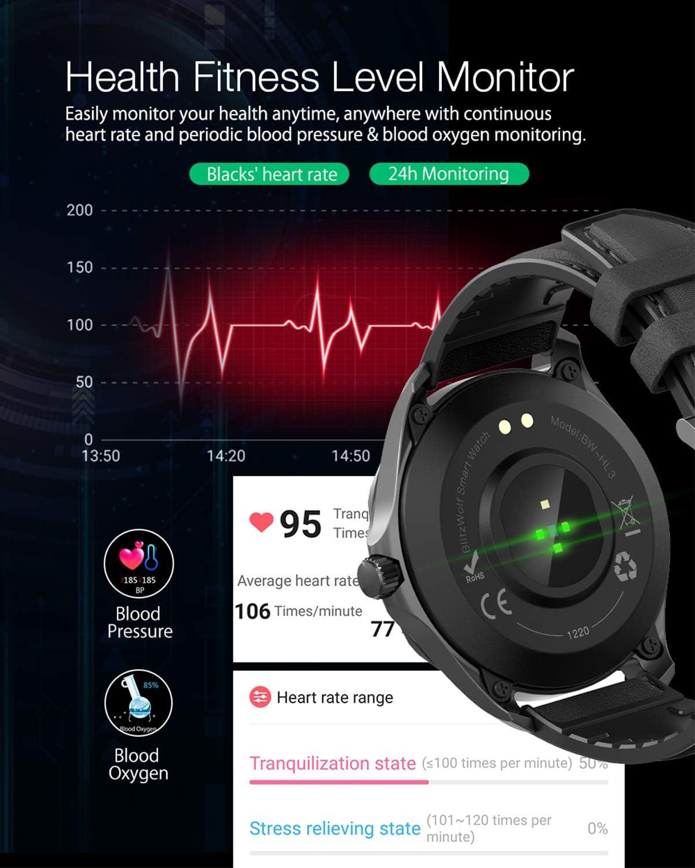 Smartwatch Blitzwolf Ip68 Wasserdichte Smartwatch 1 3 Elektronik
