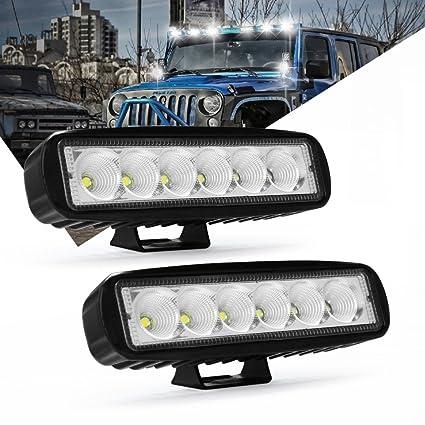 Admirable Amazon Com Led Light Bar Modern Car 6 Inch 18W Led Flood Beam Back Geral Blikvitt Wiring Digital Resources Geralblikvittorg