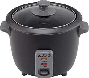 Brentwood Appliances TS-700BK 4-Cup Uncooked/8-Cup Cooked Food Steamer (Black) Rice Cookers, Normal