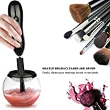 Makeup Brush Cleaner - Deep Clean and Dry All Size Makeup Brushes 360 Degree Rotation with 8 Rubber Collars In Seconds