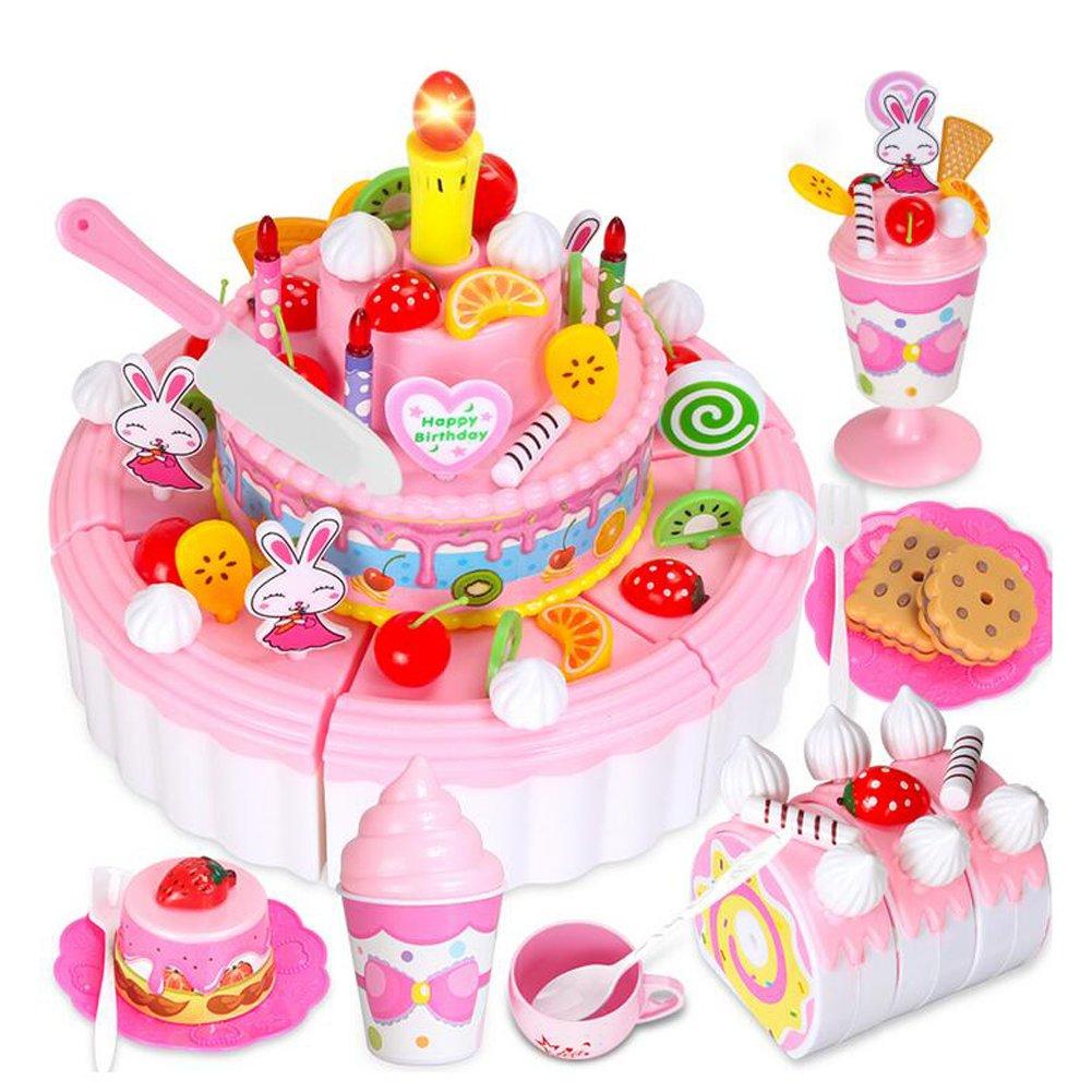103 sistema del juego de la torta de cumpleaños de los cabritos de PCS Pretenda juguetes del juego con la luz y la músic