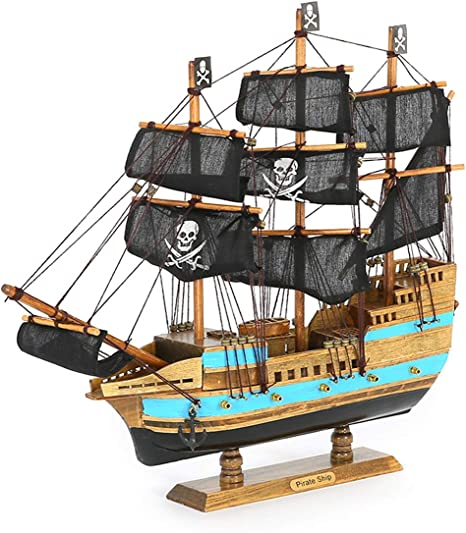 Pirates of the Caribbean Black Pearl 35-inch WOODEN SHIP MODEL Collectable Decor