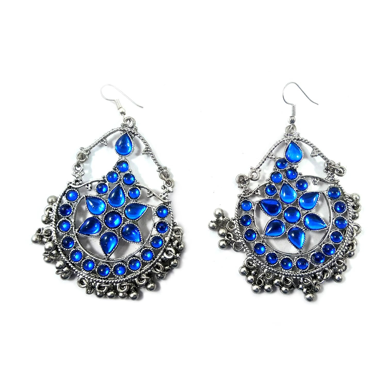 Afghan Banjara Beaded Earring Chandbalis Jhumka Kutchi Gypsy Tribal Jewellery
