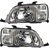 Driver and Passenger Headlights Headlamps Replacement for Honda SUV 33151S10A01 33101S10A01