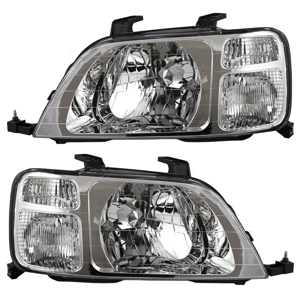 Driver and Passenger Headlights Headlamps Replacement for Honda SUV 33151S10A01 33101S10A01 AUTOANDART.COM