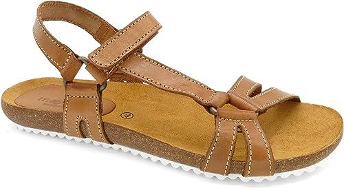 Morxiva Made in Spain schöne Echtleder Damen Sandalen Kork-Sohle Leder-Fußbett