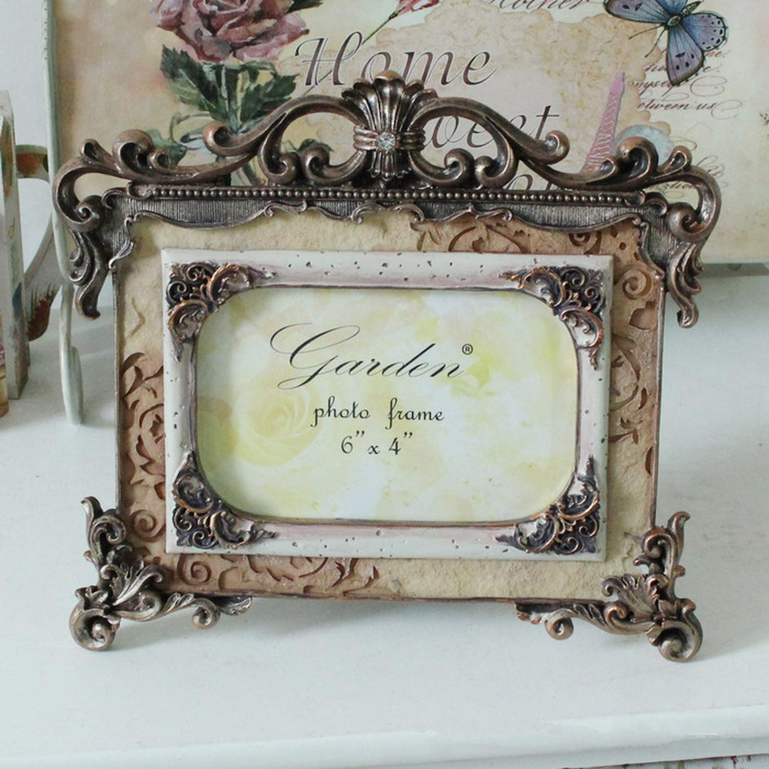 Amazon.com: Palace Carved Picture Frame Retro Resin Creative ...