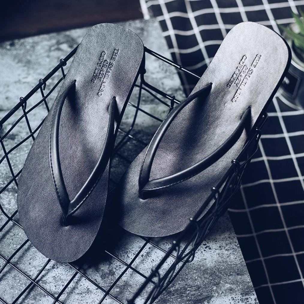 Reaso Tongs Unisexe /Ét/é Chaussons Plage Flip Flop Sandales Plates pour Hommes Femmes Chaussures de Plage Casual Chaussures de Loisirs Tongs Mixte Adulte Chaussures de Ville