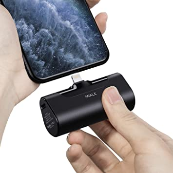 iWALK Mini Cargador Portátil, Banco de Energía Ultra Compacto de 4500 mAh, Batería Externa Pequeña y Linda Compatible con iPhone 11 Pro/XS MAX/XR/X / ...