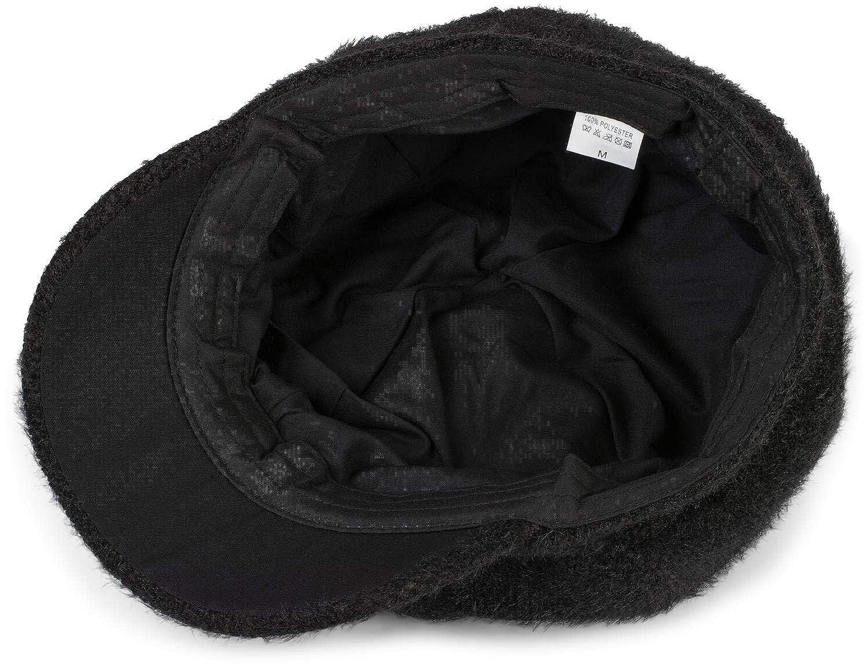 styleBREAKER Women Bakerboy Peaked Cap with Frayed Finish Balloon hat Newsboy Cap 04023069
