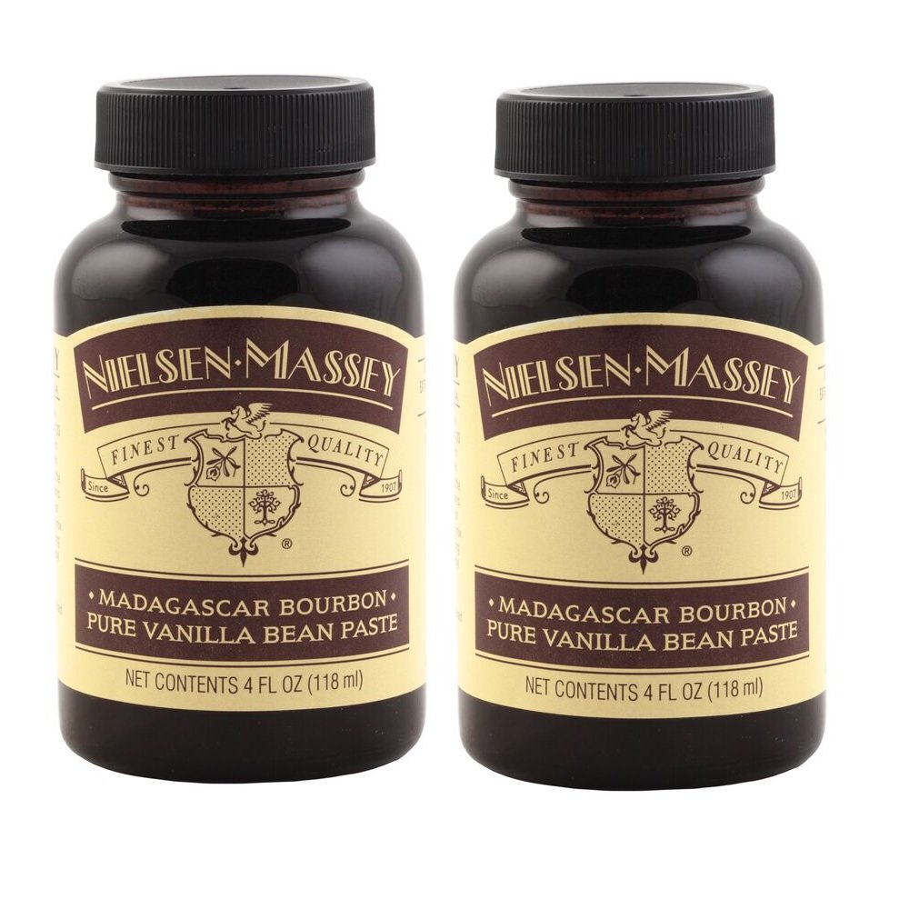 Nielsen-Massey Madagascar Bourbon Pure Vanilla Bean Paste, with Gift Boxes, 4 ounces, 2 pack by Nielsen-Massey