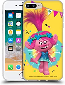 Head Case Designs Officially Licensed Trolls Poppy Graphics Soft Gel Case Compatible with Apple iPhone 7 Plus/iPhone 8 Plus