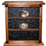 9 Buckle Display - Brown Faux Leather