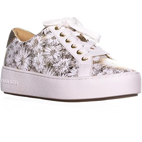MICHAEL by Michael Kors Zapatos Poppy Zapatillas Blanco y Oro Mujer Optic White 39: Amazon.es: Zapatos y complementos