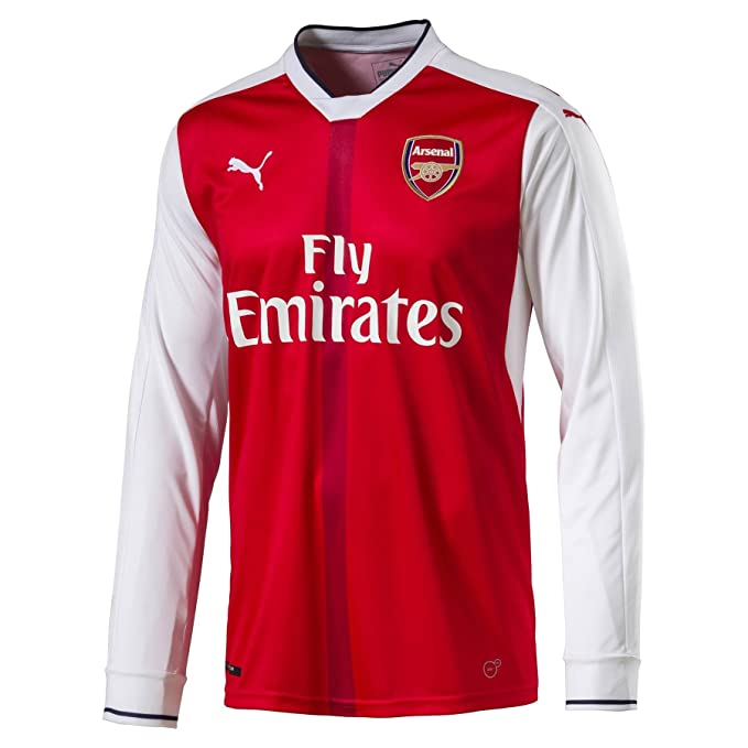 8fcbb53d7 Puma Childrens Kids Football Soccer Arsenal Home Long Sleeve Shirt 2016-2017  - 13-14 Years  Amazon.co.uk  Clothing