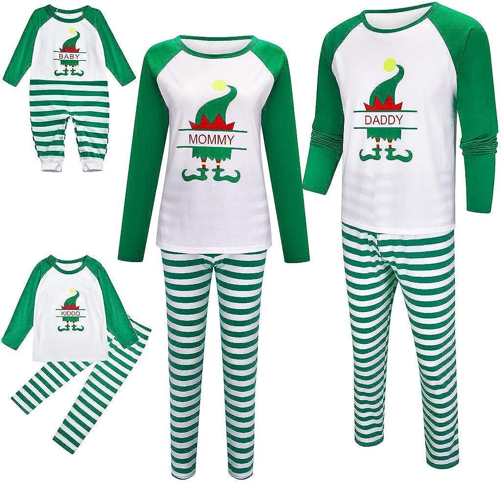 White,Women: M HULKY Elf Pyjamas Christmas Family PJs Matching Set Dad Mum Cheeky Little Elves Girl Boy Xmas Nightwear Outfit ElF TOP+Stripe Pants