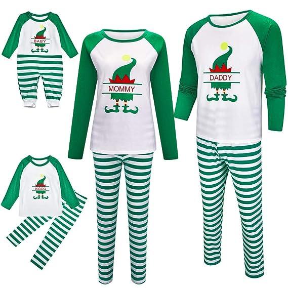 Fossen Kids Pijamas Navideños Familiares a Raya, Conjunto de ...