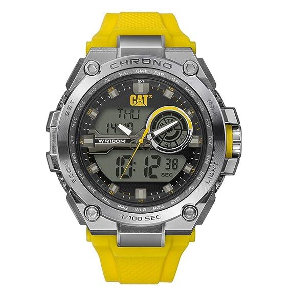 comprar online 62a84 37c96 Reloj Caterpillar MB15527131 Digital para Hombre,Plata y Amarillo 45.5 mm