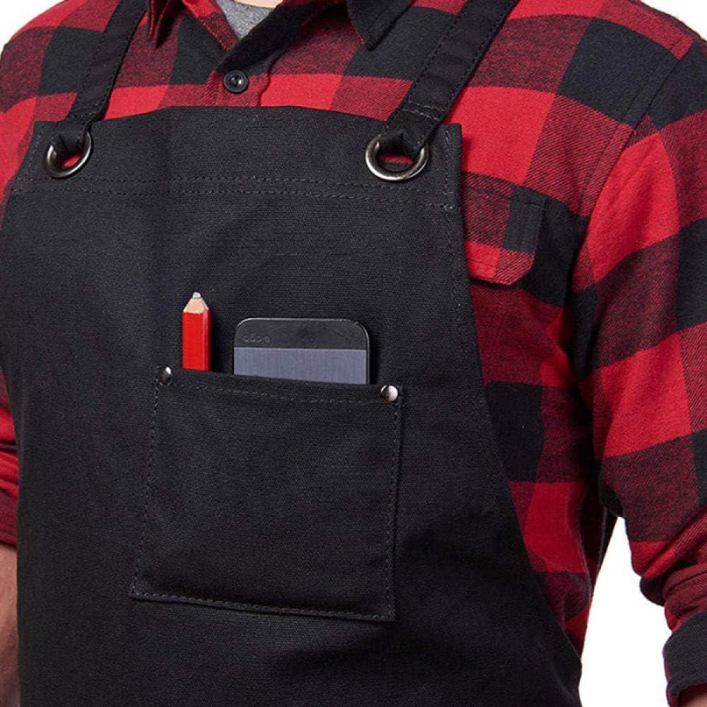 DFSF Tasche A Tasca Multipla Grembiule da Giardino Barbecue per La Casa Barbecue Accessori per Abiti da Lavoro Contenitore per Attrezzi Strumenti per Carpentiere-Nero Nero