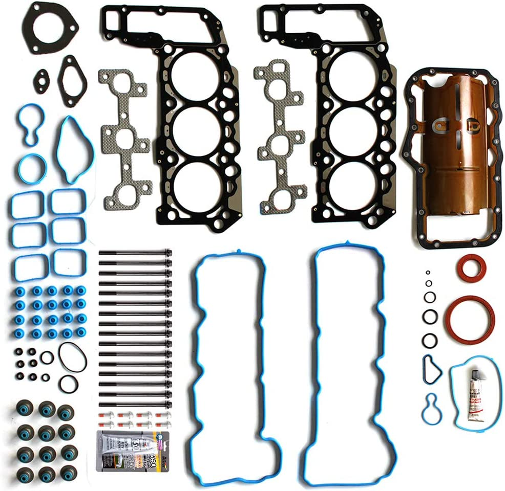 ANPART Automotive Replacement Parts Engine Kits Full Gasket Set Bolts Fit Dodge Dakota 3.7L 2005-2010