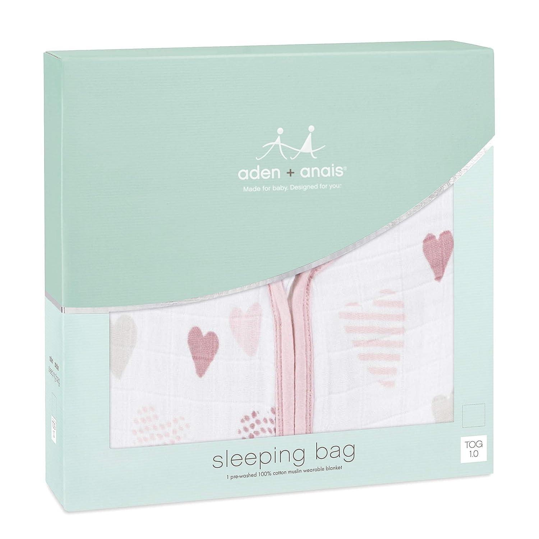anais  1.0 TOG sleeping bag aden 6-12m 100/% cotton muslin Heart Breaker