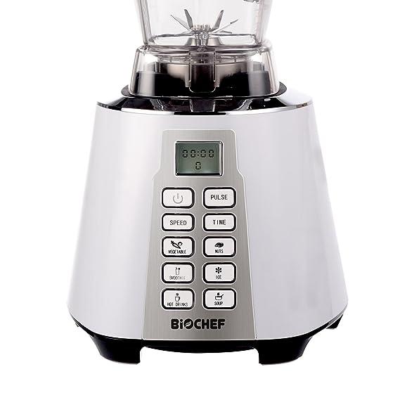 Bio Chef Nova - Batidora de Vaso | Blender | Batidora Americana de Vaso | 1600W | 28.000RPM | BPA Free | 6 programas (Blanco): Amazon.es