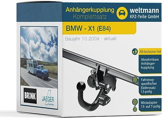 Weltmann 7d020043 Geeignet Für X1 E84 Abnehmbare Anhängerkupplung Inkl Fahrzeugspezifischer 13 Poliger Elektrosatz Auto